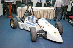 The Formula McLaren produced by the Young Autoimobile Engineering Students of the German Tecchnical Training Institute.